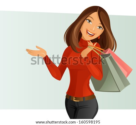 Smiling Girl - stock vector