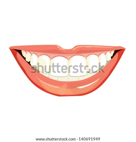 smiling mouth with beautiful healthy teeth