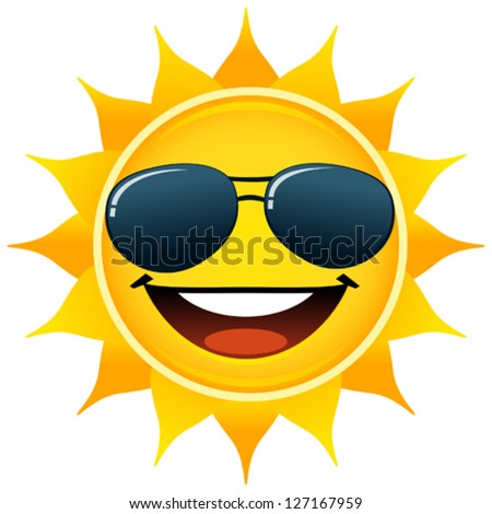Smiling Sun - stock vector