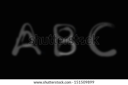 Smoke alphabet font. Letters A-C. Vector illustration - stock vector
