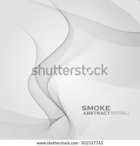 Smoke background. Abstract composition illustration - vector eps10 - stock vector