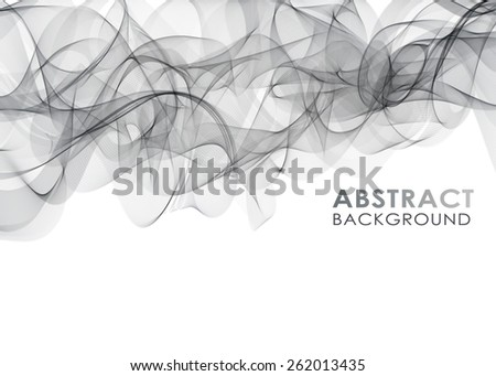 Smoke background. Abstract vector Illustration - stock vector