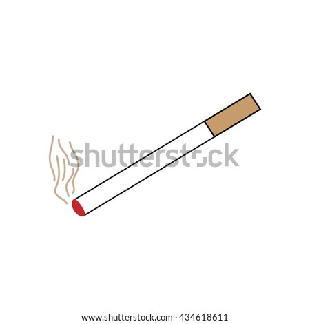 Smoke design element .You can smoke sign. Isolated on white background. Smoking area symbol marks. You can smoke sign picture. White sticker vector illustration. Flat vector image. Vector illustration - stock vector