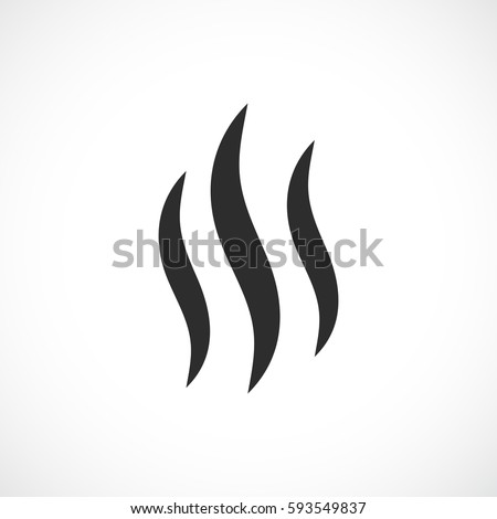 Smoke Hot Eps Vector Icon Flat Stock Vector 593549837 - Shutterstock