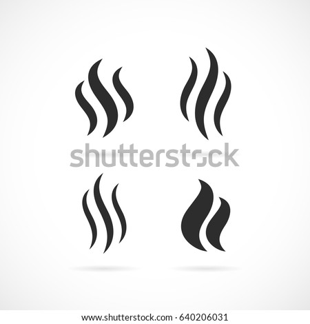 Smoke Steam Vector Eps Icon On Stock Vector 626931785 - Shutterstock