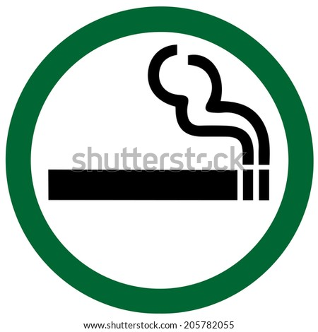 Smoking Area on white background