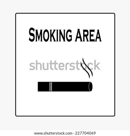 Smoking Area Sign,smoking vector - stock vector