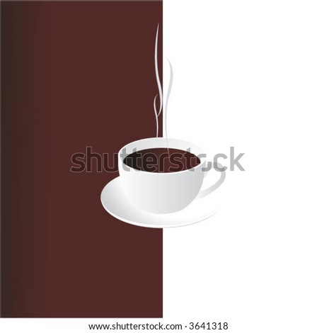 Smoking cup of coffee - stock vector