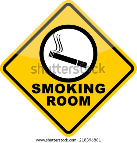 smoking room, signs