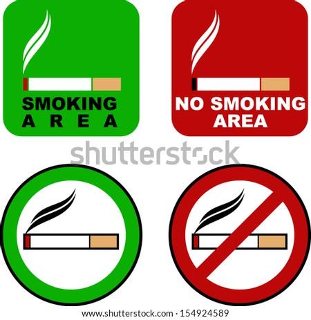 SMOKING SIGN - stock vector