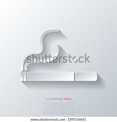 Smoking sign. cigarette icon. - stock vector
