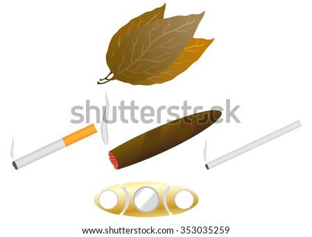 Smoking (Tobacco) - stock vector