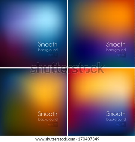 Smooth colorful backgrounds set - eps10 - stock vector