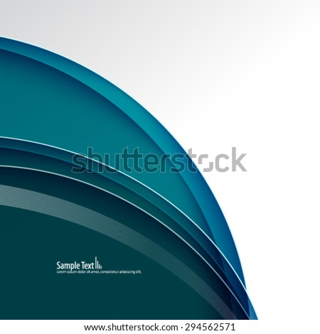 Smooth Curve Lines Modern Concept Background - stock vector