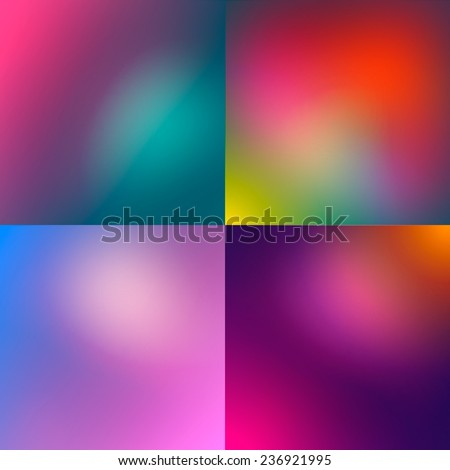Smooth gradient backgrounds collection. eps10 - stock vector