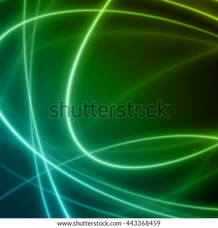Smooth light blue green waves lines vector abstract background. Good for promotion materials, brochures, banners. Abstract Backdrop, Technology Background. Glowing effects. - stock vector