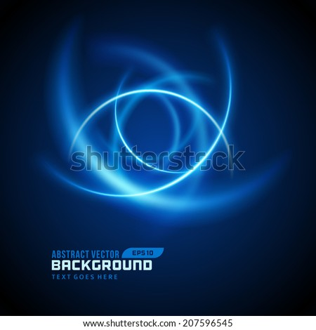 Smooth light lines abstract vector background - stock vector