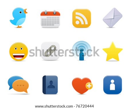 smooth series > communication icons - stock vector