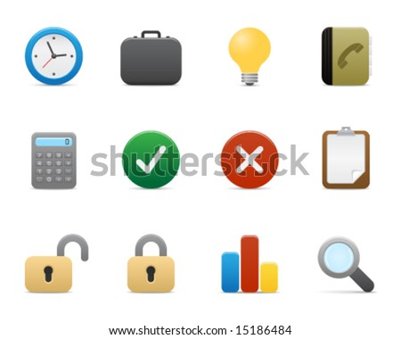 smooth series > office icons - stock vector