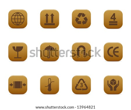 smooth series > packing symbols - stock vector