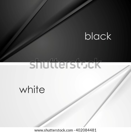 Smooth silk lines black and white backgrounds. Vector illustration design - stock vector