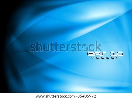Smooth wave blue design. Vector illustration eps 10 - stock vector
