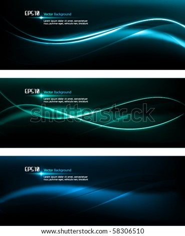 Smooth Waves | Dark Design Template for Masculine Designs | EPS10 Vector Background - stock vector