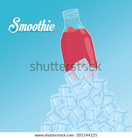 Smoothie icon digital design, vector illustration 10 eps graphic - stock vector