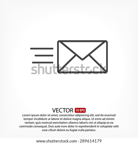 sms line vector icon - stock vector