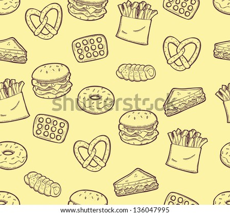 snack food background