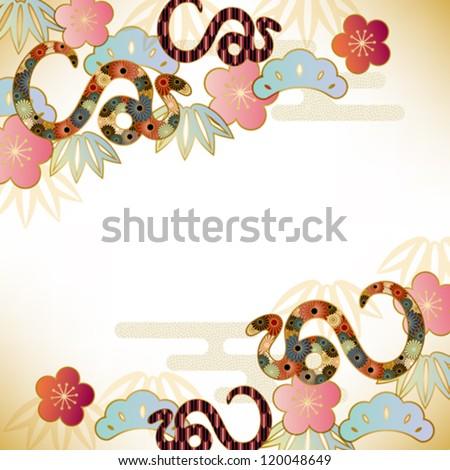 snake background - stock vector