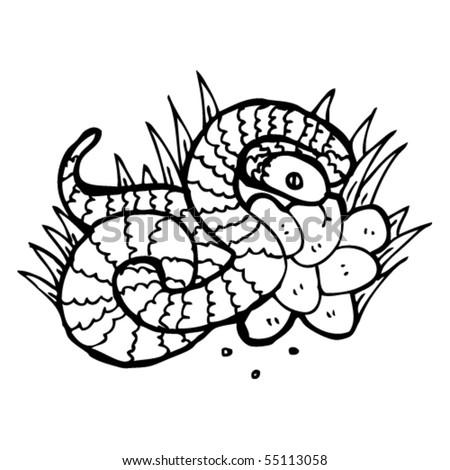 snake cartoon - stock vector
