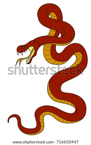 Snake cobra tattoo hand drawn chinese snake sticker snake cobra tattoo style cobra vector