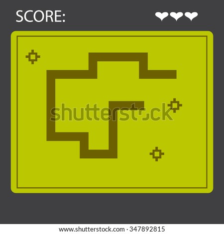 Snake Game Layout - stock vector