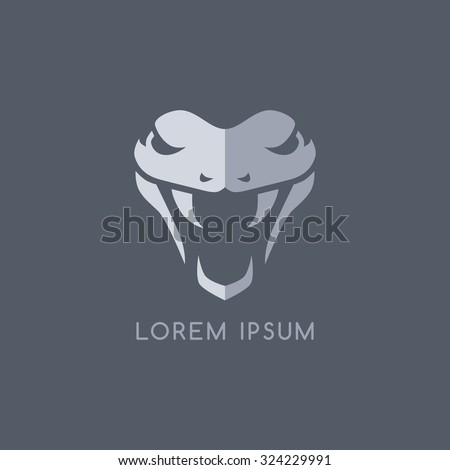 snake logo template - stock vector