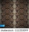 Snake skin reptile seamless pattern, vector Eps10 illustration. - stock photo