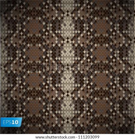Snake skin reptile seamless pattern, vector Eps10 illustration. - stock vector