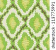 Snake skin seamless pattern with green color - stock