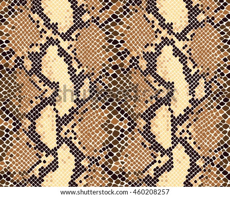 Snake Skin Seamless Vector Pattern Reptile Stock Vector