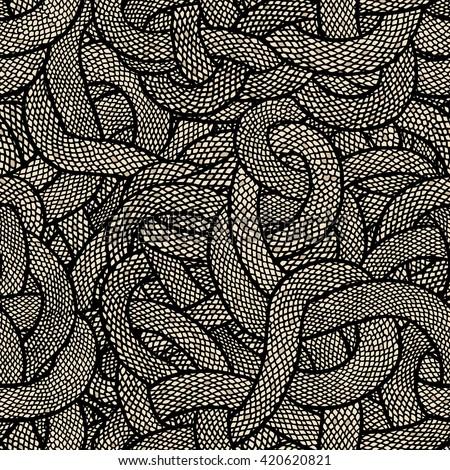 Snake skin vector seamless pattern. - stock vector