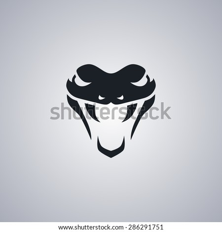 snake template - stock vector