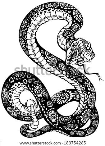 Snake tattoo brushes photoshop