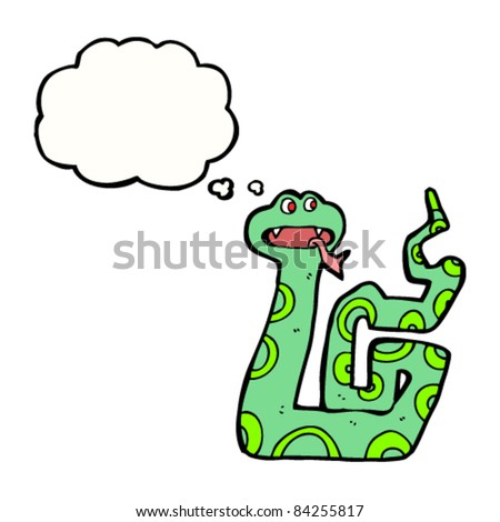 snake with thought bubble