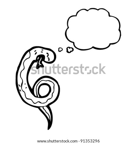 snake with thought bubble cartoon