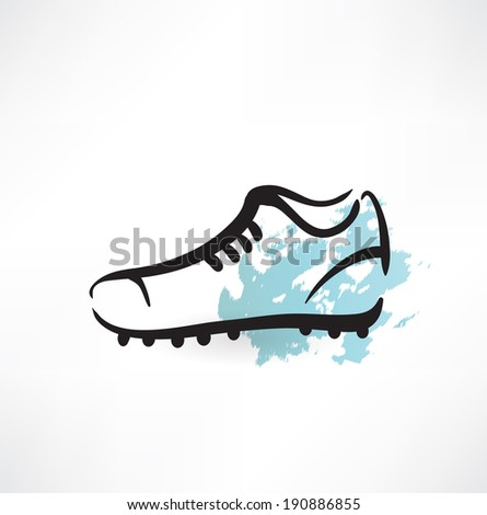 sneakers grunge icon - stock vector