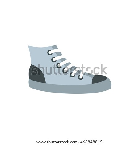 Sneakers icon in flat style isolated on white background. Shoes symbol