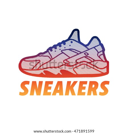 Sneakers Logo Shoes Sign Stock Vector 471891599 - Shutterstock
