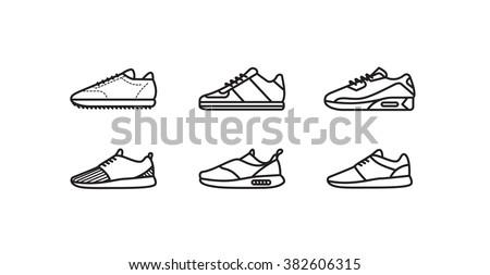 Sneakers minimal vector icon - stock vector