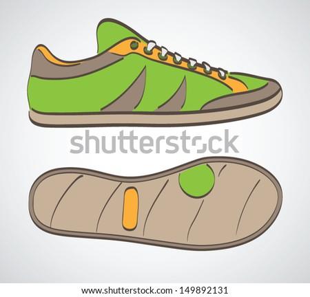 Sneakers. Sport concept. Vector illustration - stock vector
