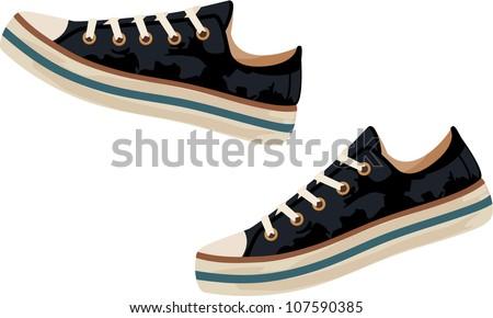 Sneakers. vector - stock vector